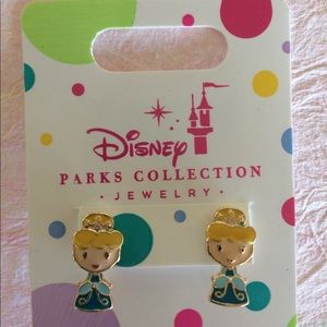 Girls Pierced Disney Princess Cinderella Earrings